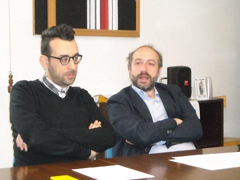 L'assessore Francesco Trasatti ed il Sindaco di Fermo Paolo Calcinaro
