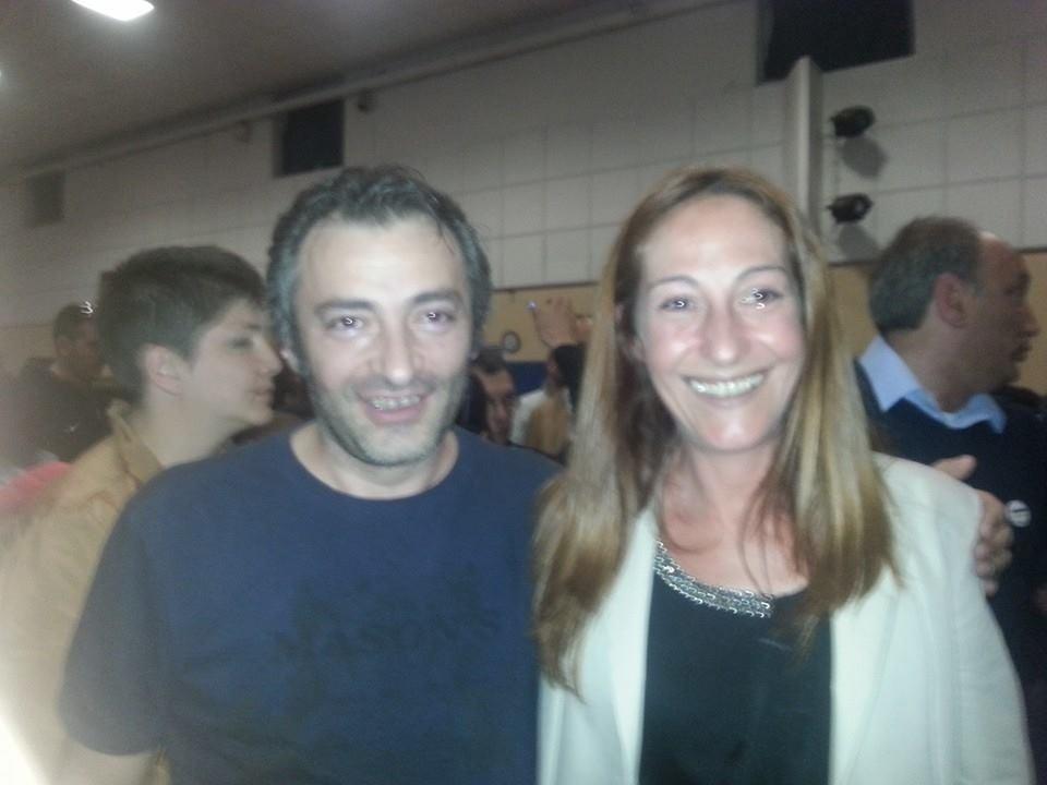 Endrio Pavoni con Paola Taverna