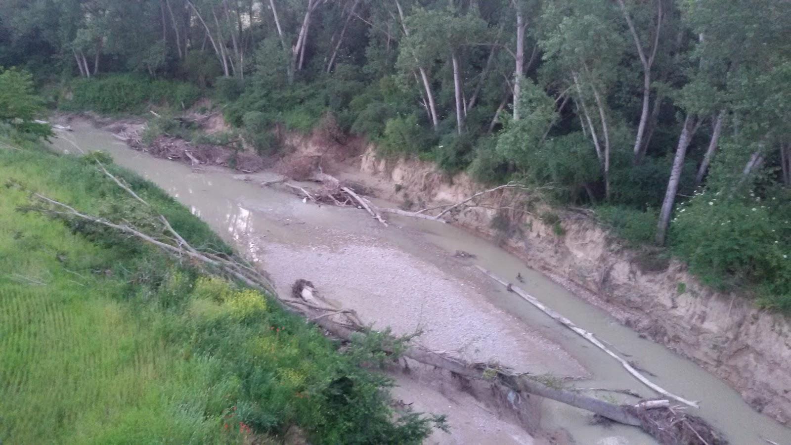 Pericolo torrenti l 39 ete morto pieno di sedimenti le foto - Letto di un fiume ...