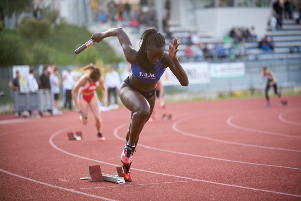 La giovane atleta Sokhona Kebe