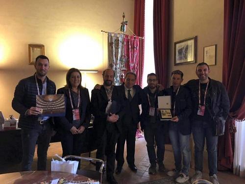 La delegazione fermana a Foligno per il progetto Quadriciclo