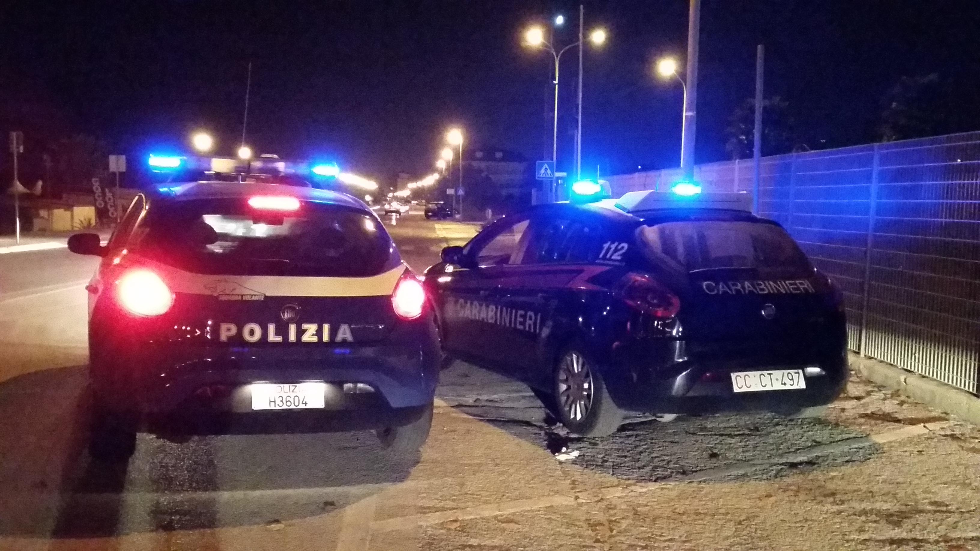 polizia e carabinieri notte