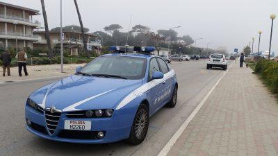 polizia lungomare porto san giorgio