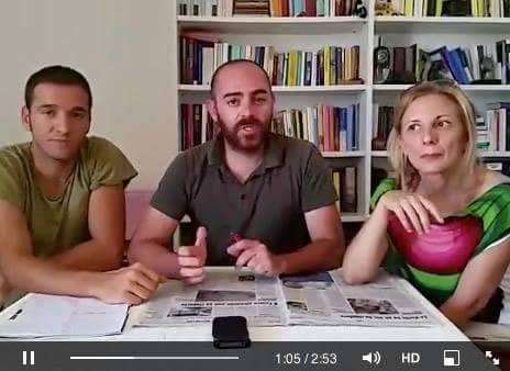 Marco Fioschini al centro con Beatrice Spina e Marco Bugiardini