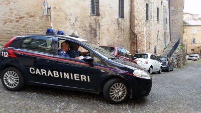 I carabinieri di Fermo sul posto