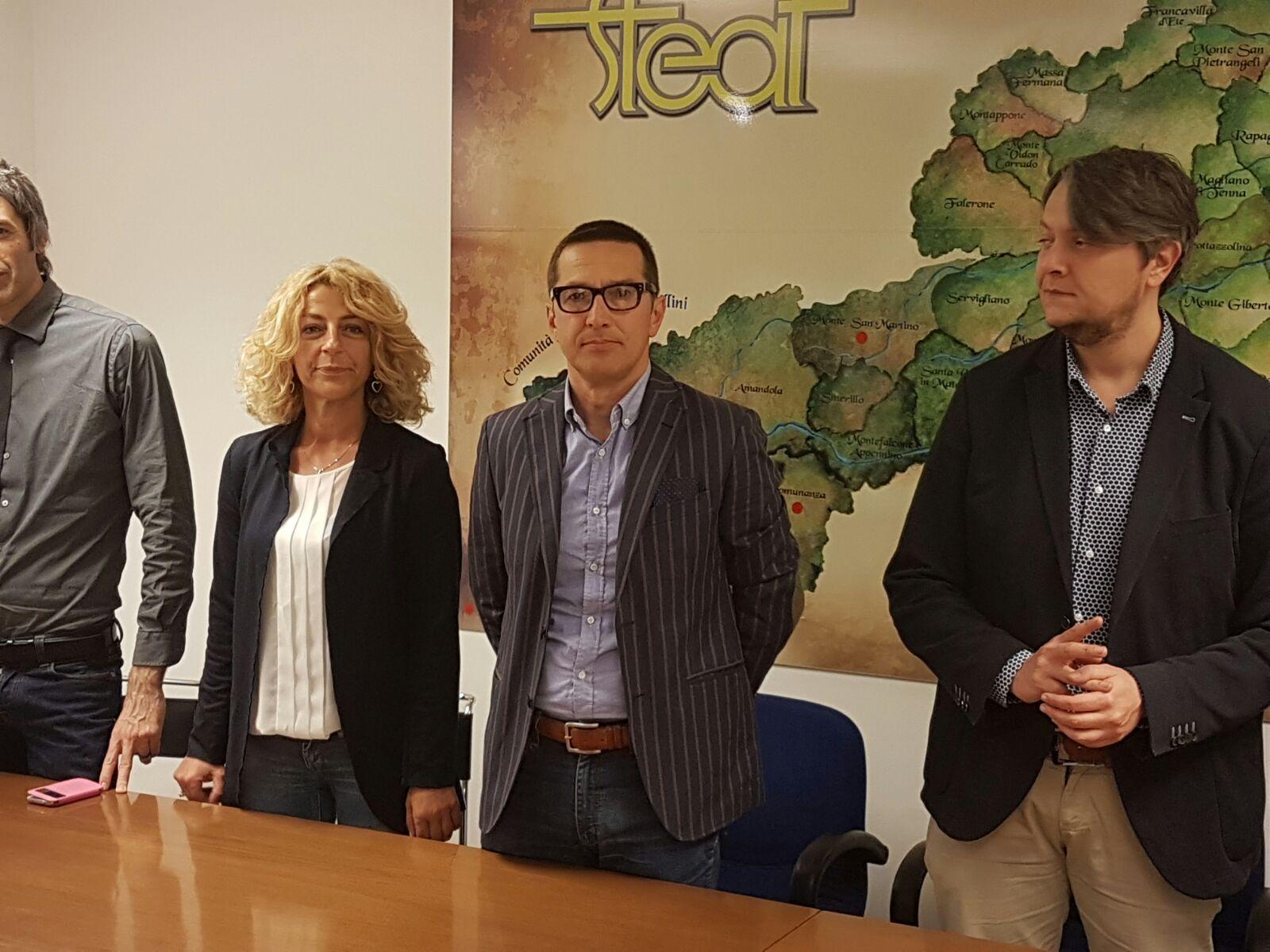 La vice presidente Rosanna Bernardini con Alessandrini e Perugini