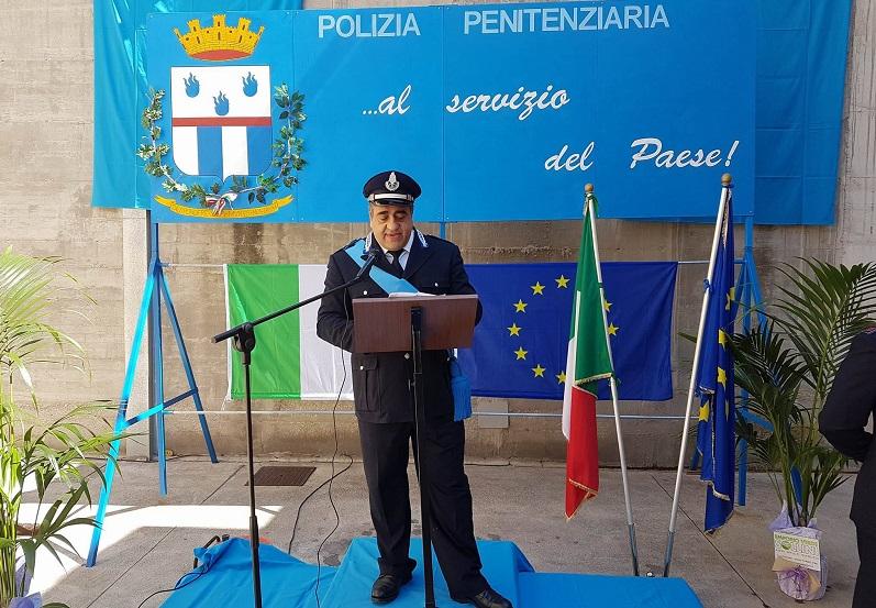 Commissario comandante penitenziaria Fermo Gerardo D'Errico festa penitenziaria