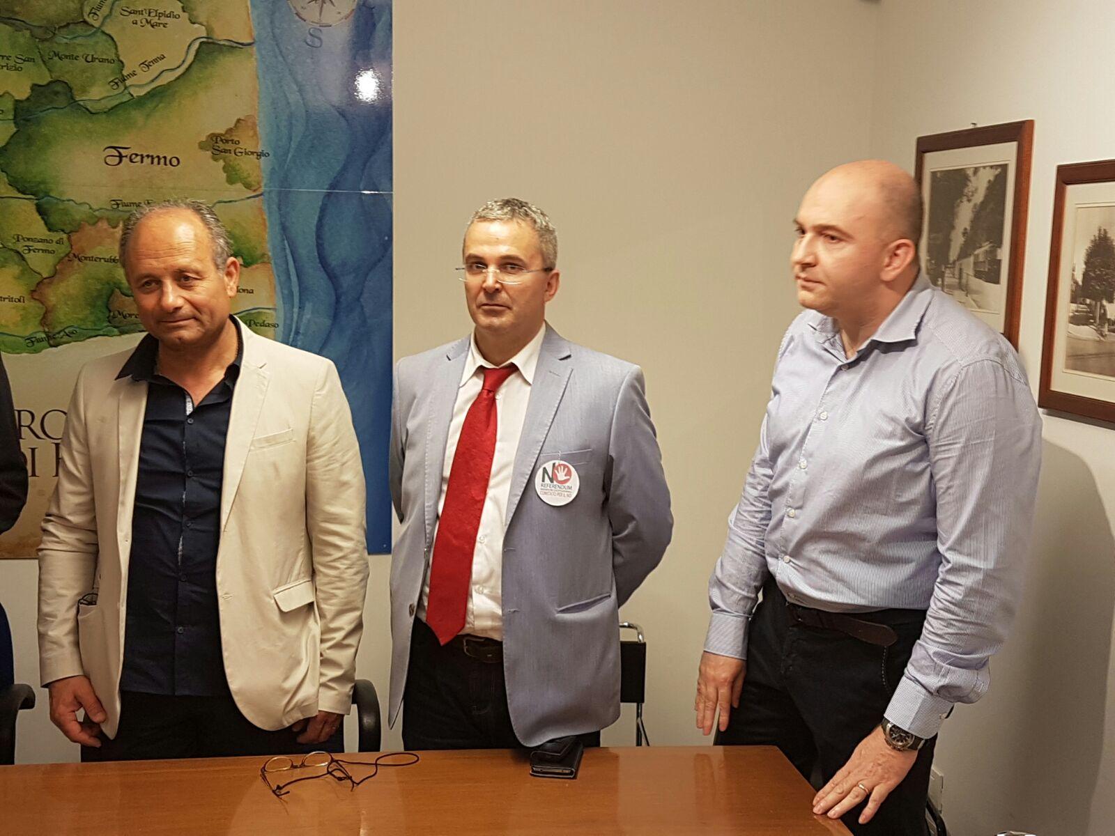 L'assessore Febi, Renzo Interlenghi ed Emanuele Corradi
