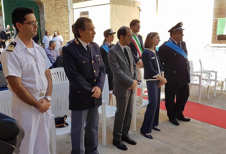 Gli ospiti durante la festa della polizia penitenziaria