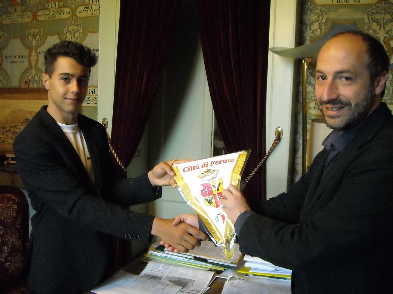 Giorgio Traini e il sindaco Paolo Calcinaro
