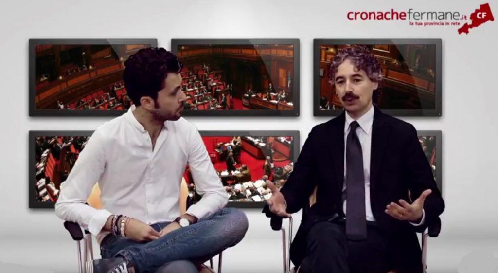 Il Senatore Francesco Verducci ospite nella redazione di Cronachefermane