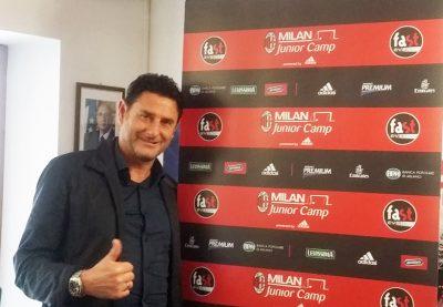 L'allenatore Massimo Agostini