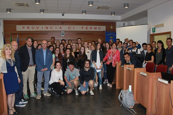 Studenti del progetto Erasmus in visita alla Provincia di Fermo