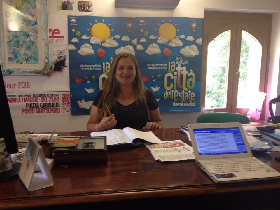 L'assessore al turismo di Porto Sant'Elpidio, Milena Sebastiani.