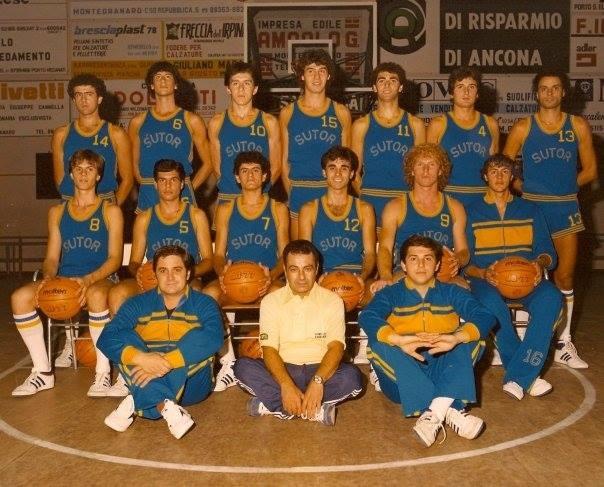 La compagine della Sutor Basket che ha disputato il campionato di serie B 1982-83