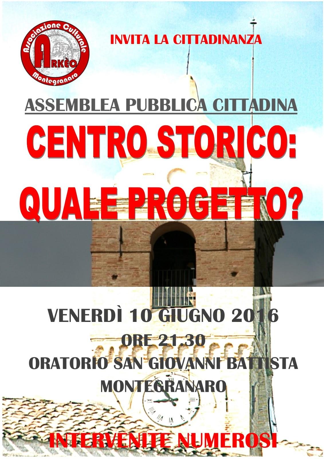assemblea centro storico Montegranaro