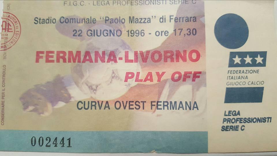 Un biglietto della storica partita