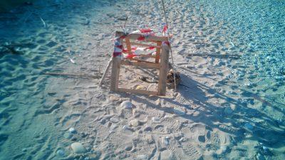 bomba sulla spiaggia