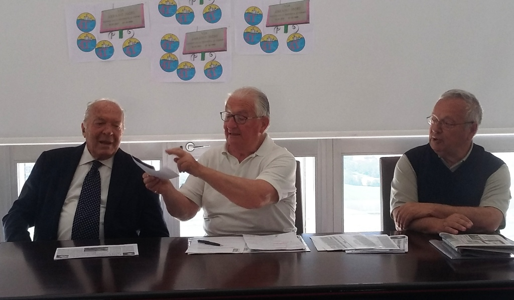 da sinistra Emiliani, Rossi e Del Gobbo