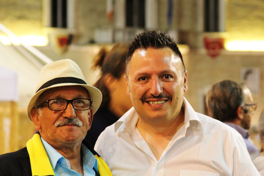 Il presidente Mistretta con Luigi Rocchi