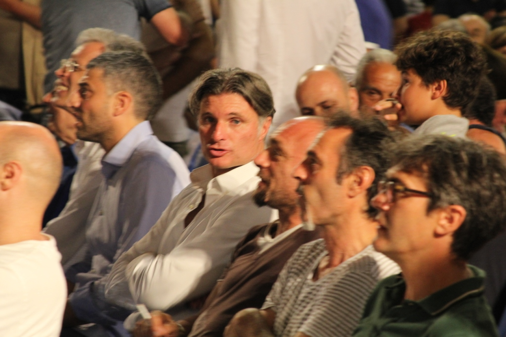 Gli ex giocatori durante la premiazione