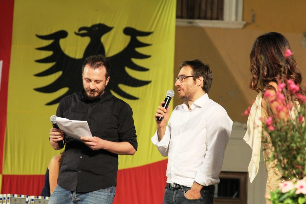 Alberto Maria Scarfini sul palco
