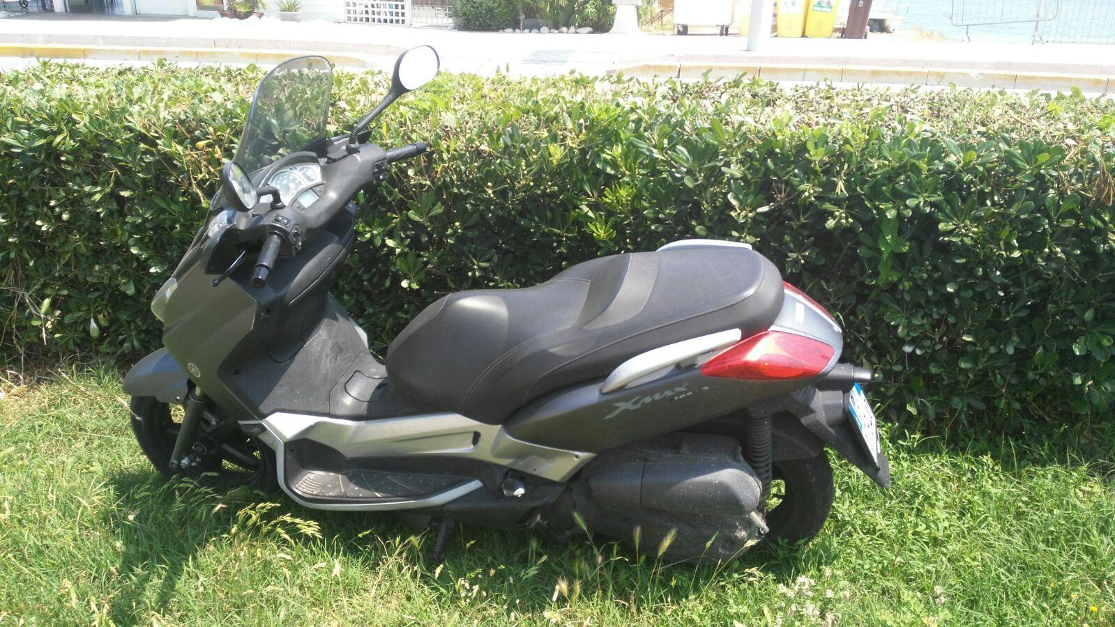 La foto dello scooter rinvenuto nella tarda mattinata di oggi dalla Guardia di Finanza