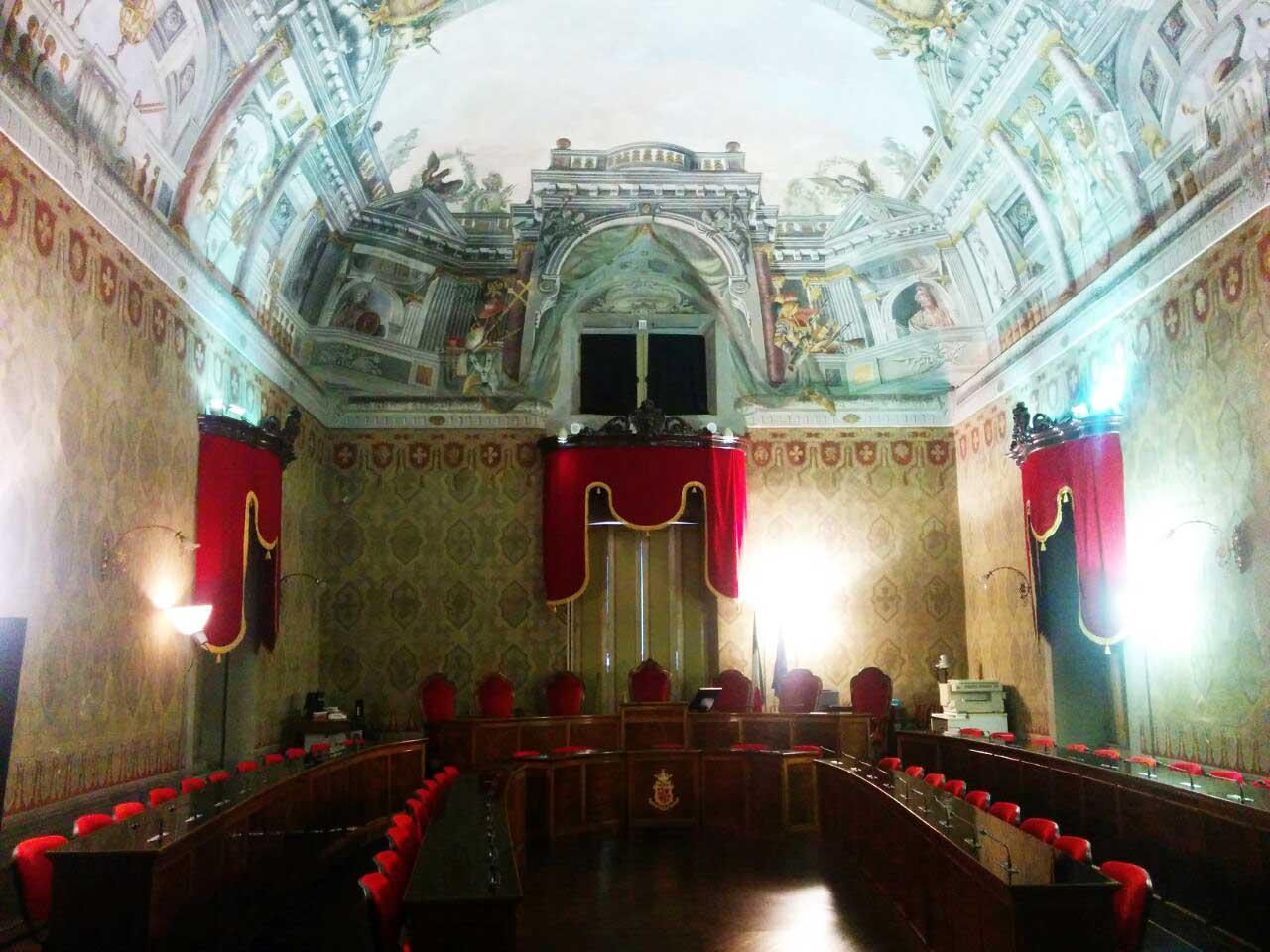 sala consiglio comunale Fermo