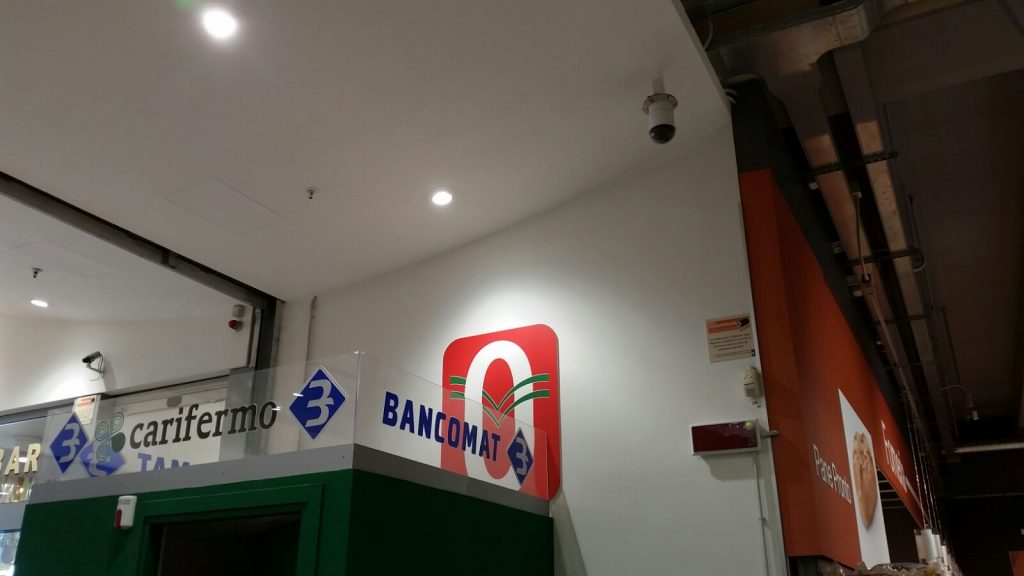 telecamera bancomat Oasi Porto San Giorgio