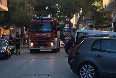 vigili del fuoco in centro psg