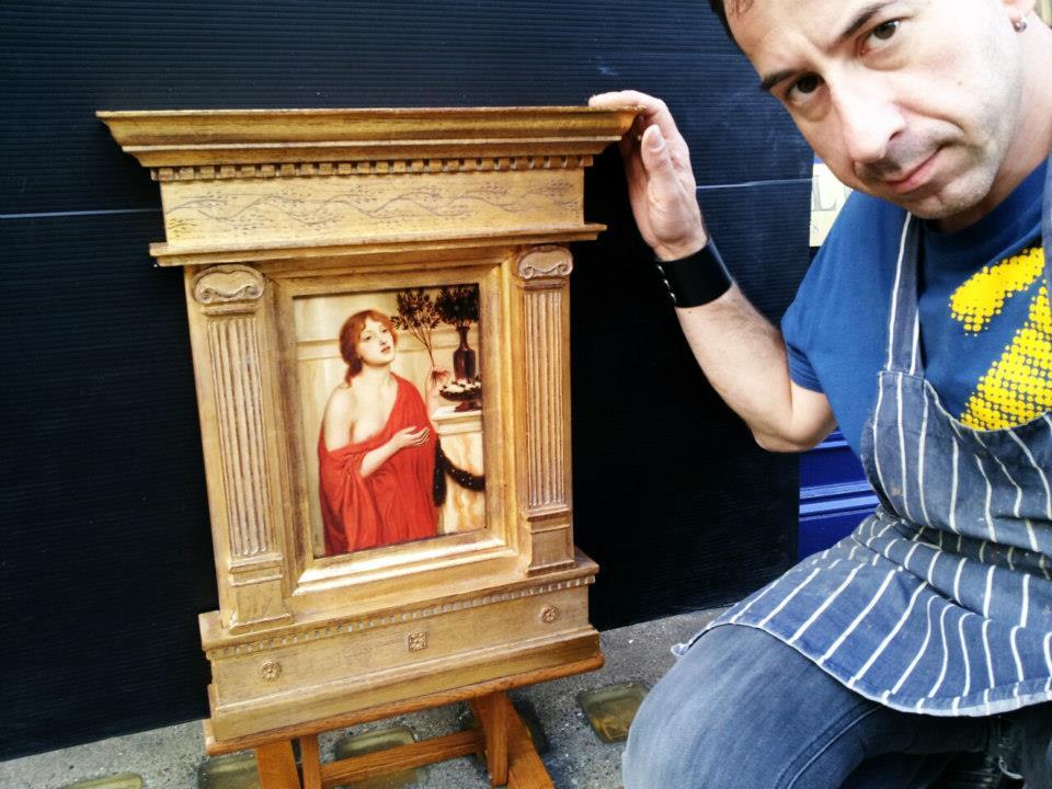William Timi durante il suo lavoro a Londra
