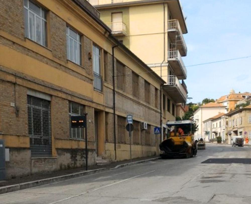 Montegranaro lavori Viale Zaccagnini