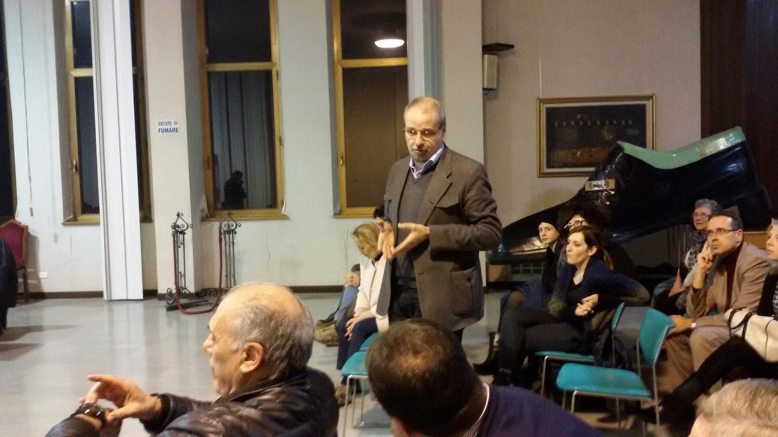 Un momento dell'incontro tra amministrazione e cittadini per illustrare il progetto tenutosi lo scorso inverno