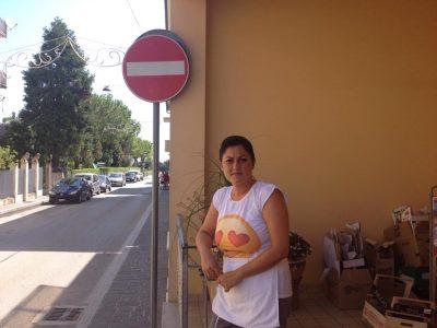 Francesca Calzetti, che in via Corva gestisce una bottega di alimentari.