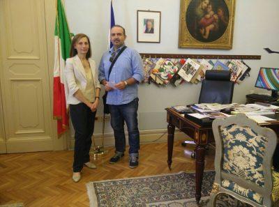 Il prefetto Mara Di Lullo con Alessandro Patacconi