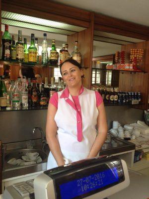 """Michela Ferroni, del bar pasticceria """"Ferroni"""", in via Corva."""