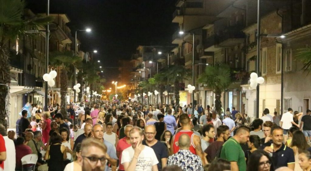 Notte bianca Porto Sant'Elpidio 3 via cesare battisti