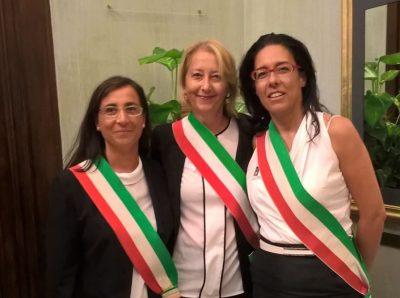 I Sindaci Romina Gualtieri, Ediana Mancini e Barbara Toce