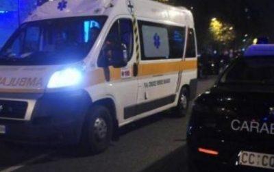 ambulanza e carabinieri notte