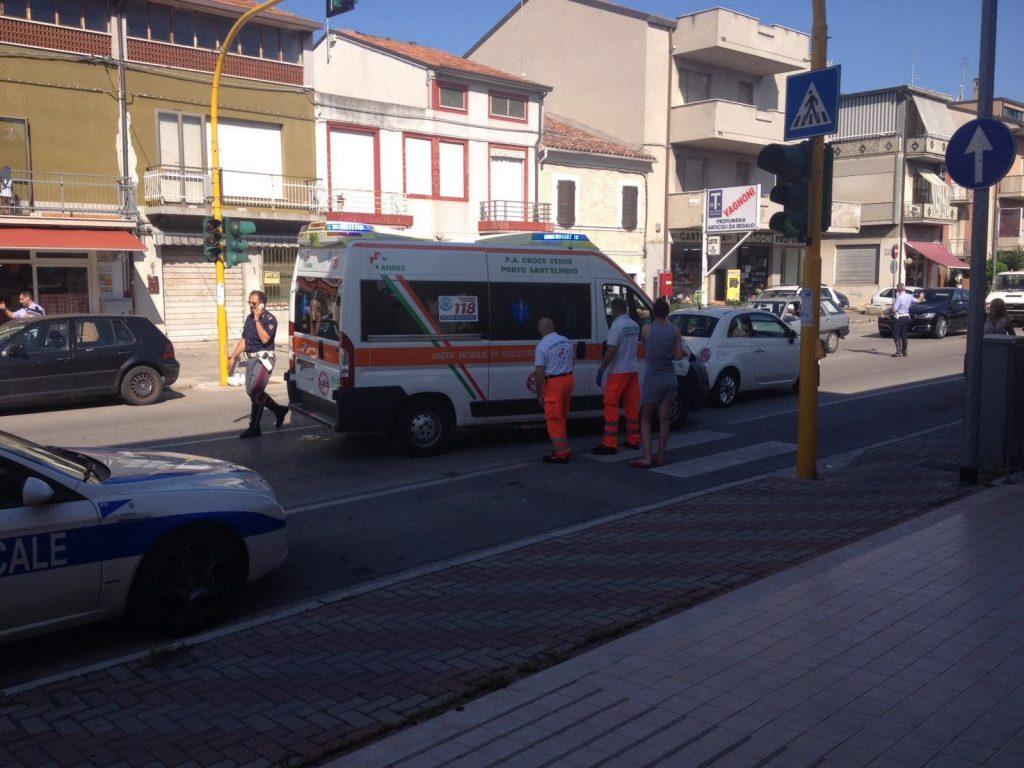 Ambulanza investito Porto Sant'Elpidio