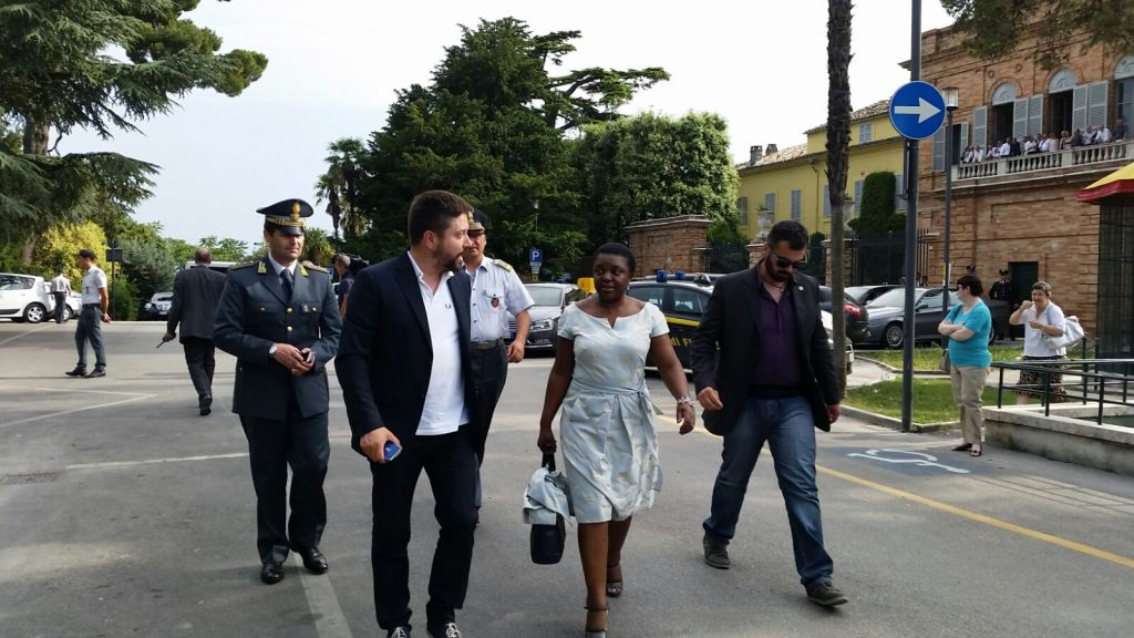 Cecile Kyenge ieri a Fermo