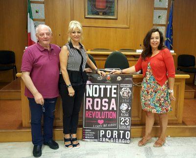 Da sin. Giuliano Remia, Teresa Scriboni e Catia Ciabattoni
