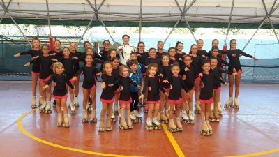 Giovani pattinatrici al centro don Bosco