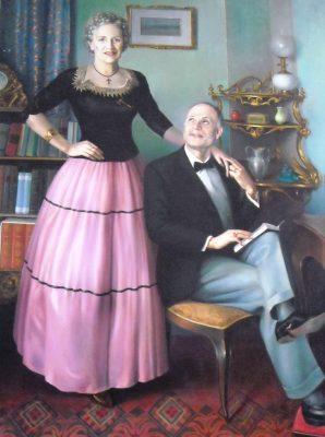 """Pende - """"Ritratto della famiglia di Umberto Zampacavallo"""""""