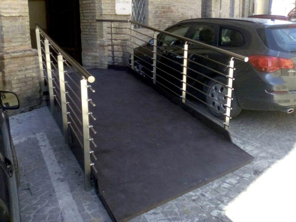 rampa Montegranaro rampa accesso disabili