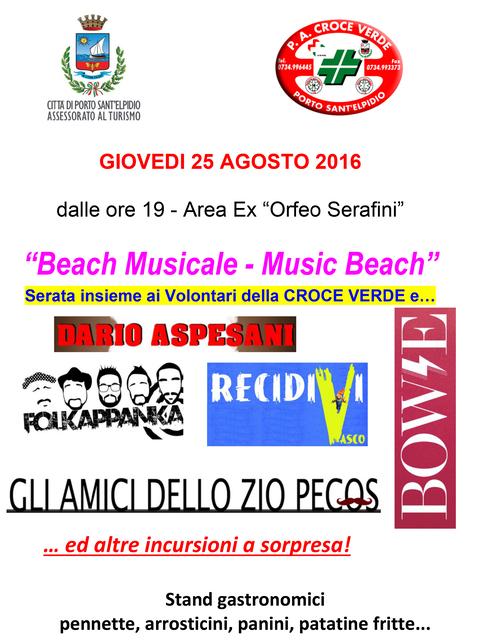 Beach Musicale Locandina Pubblica