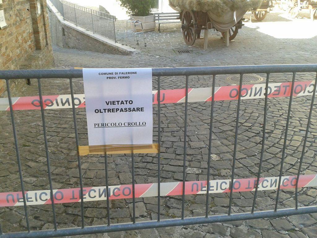 Falerone centro interdetto terremoto
