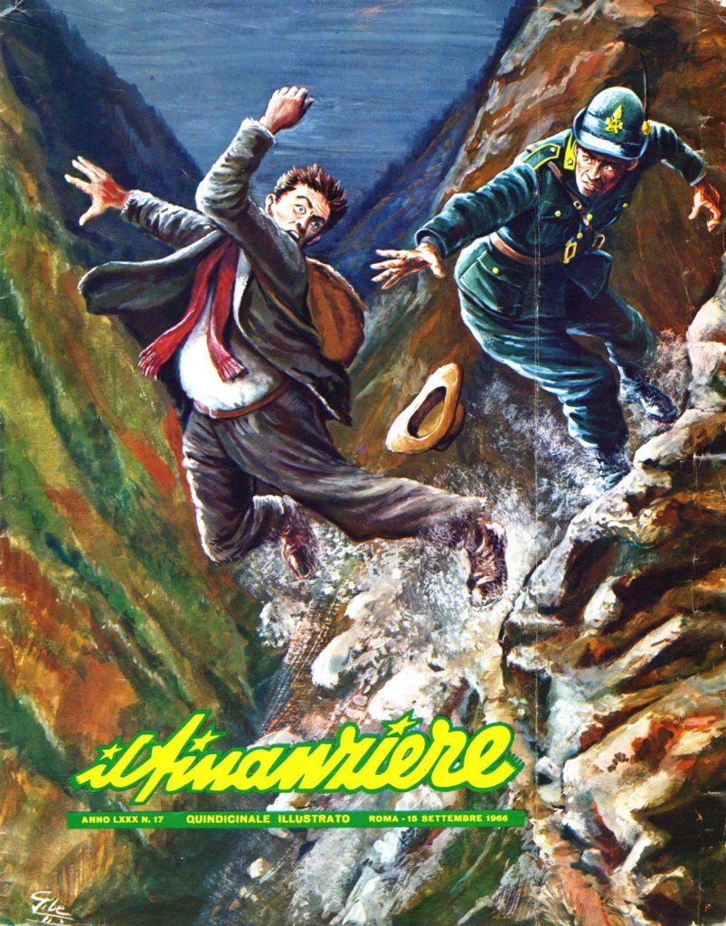 """La notizia riportata nella copertina del 1966 della rivista """"Il Finanziere"""""""