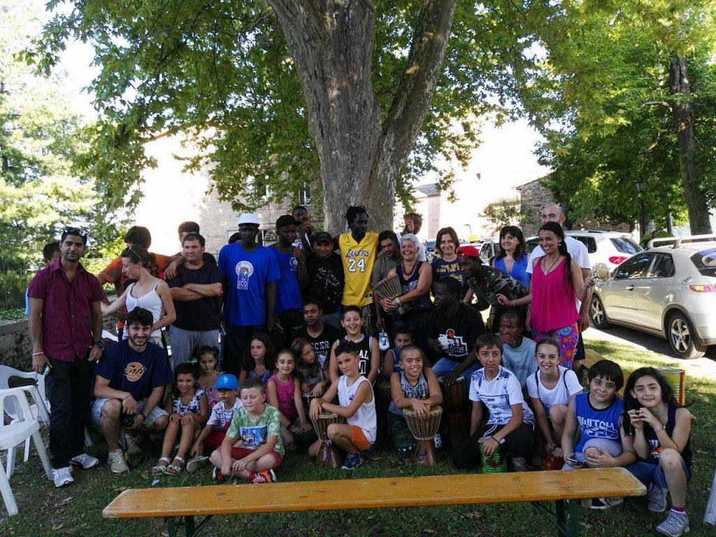 Incontro bambini immigrati Basket amandola