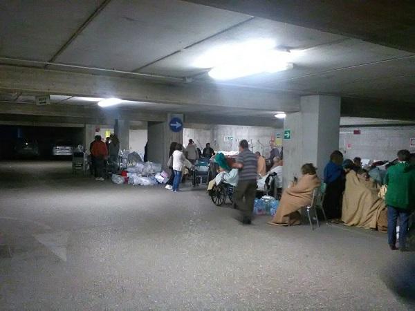 OSpedale Amandola gente evacuata